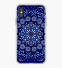 Visit from the Ancestors (Dragonfly) Blue and white iPhone Case