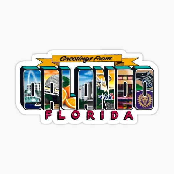 Greetings From Orlando Florida Sticker