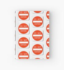 DO NOT ENTER KEEP OUT PATTERN Hardcover Journal