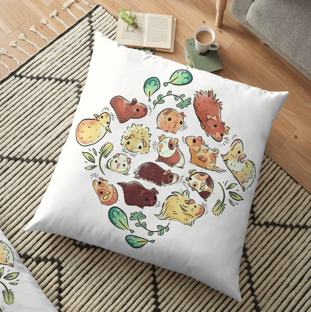 Guinea Pig Diamond  Floor Pillow