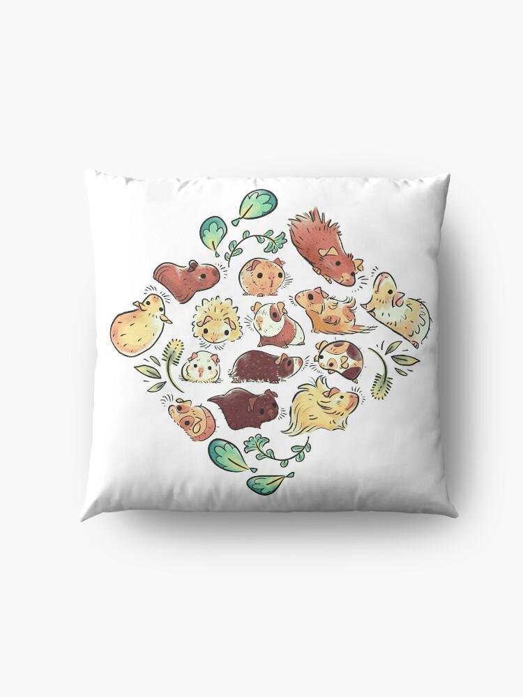 Alternate view of Guinea Pig Diamond  Floor Pillow