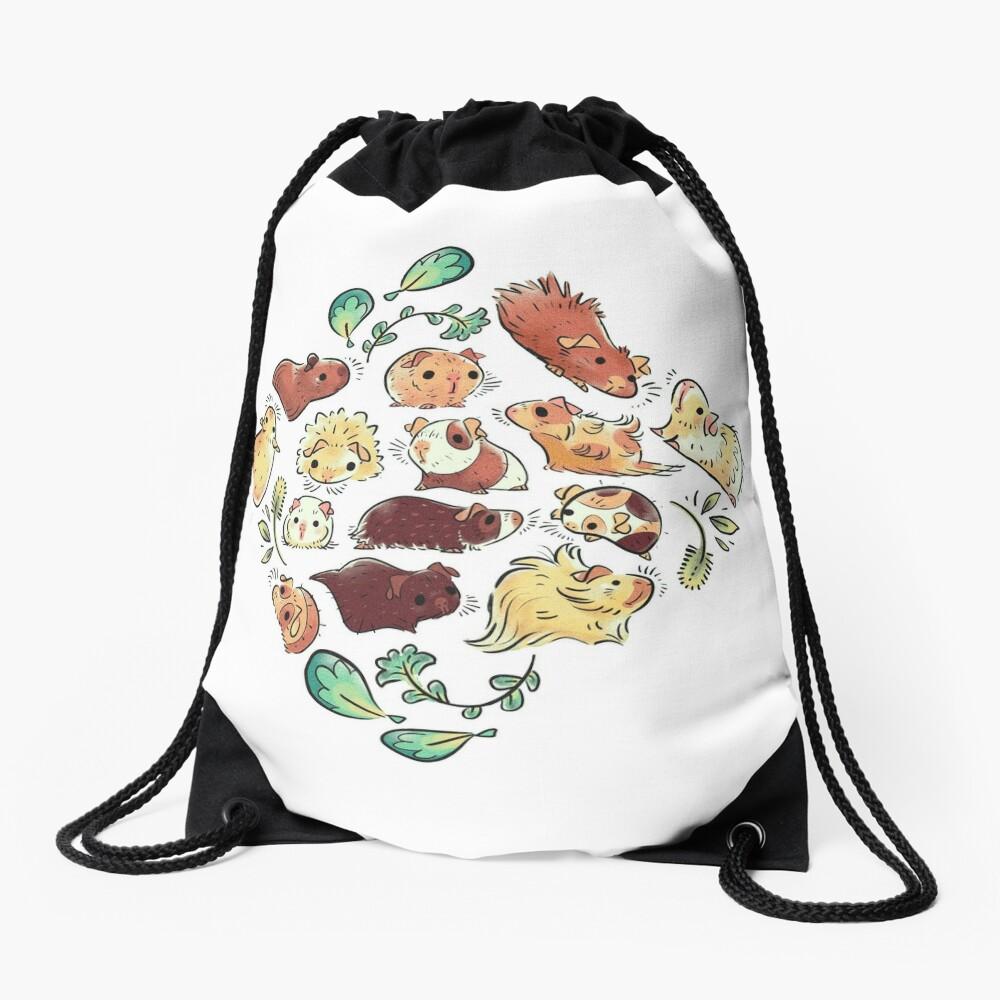 Guinea Pig Diamond  Drawstring Bag