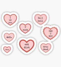 Anti- Valentines Day Hearts Sticker