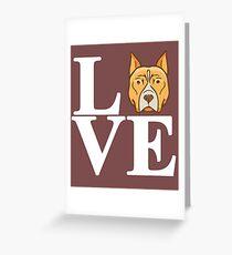 Love My Pitt Bull Greeting Card