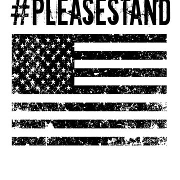 Please Stand American Veterans Distressed Flag Shirt by travelingpoppy