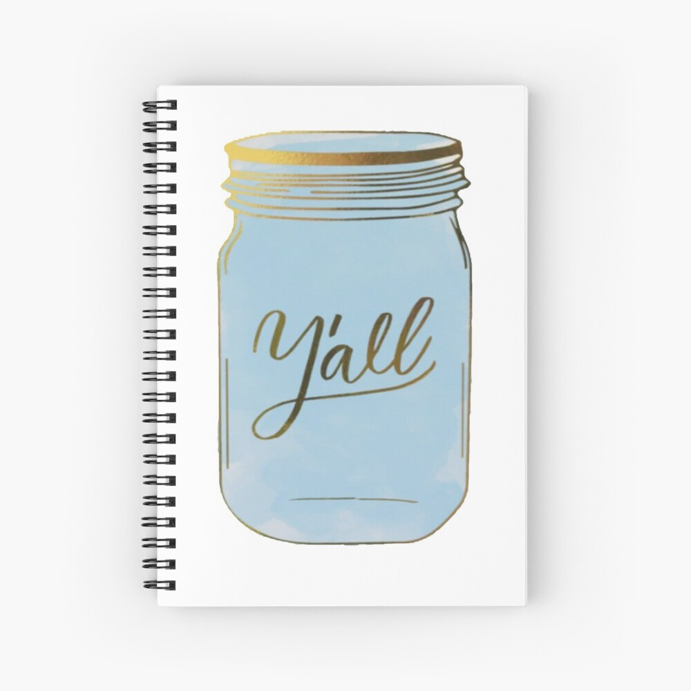 Y'all Mason Jar Spiralblock
