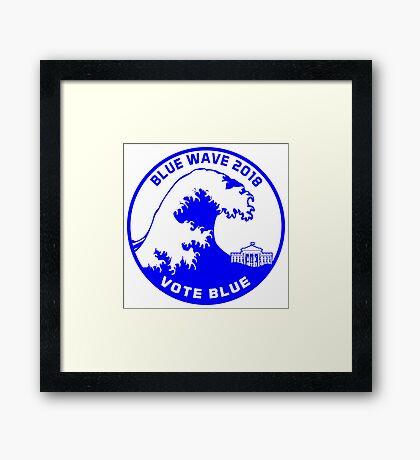 Blue Wave 2018 Framed Print
