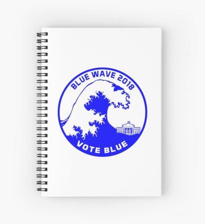 Blue Wave 2018 Spiral Notebook
