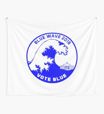 Blue Wave 2018 Wall Tapestry