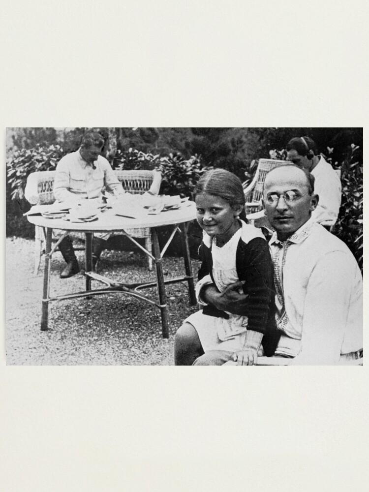 Alternate view of Лаврентий Берия с дочерью Сталина Светланой - Lavrenty Beria with Stalin's daughter Svetlana Photographic Print