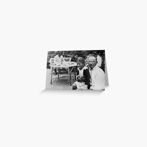 Лаврентий Берия с дочерью Сталина Светланой - Lavrenty Beria with Stalin's daughter Svetlana Greeting Card
