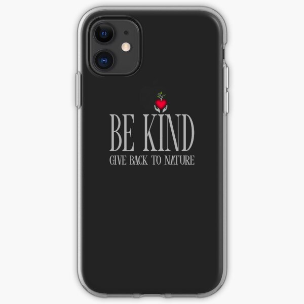 Be Kind - Text - Dark Background iPhone Soft Case
