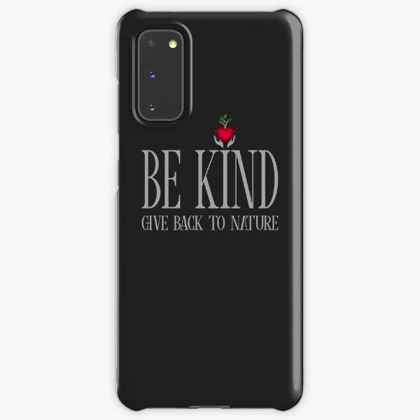Be Kind - Text - Dark Background Samsung Galaxy Snap Case