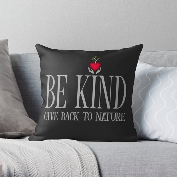 Be Kind - Text - Dark Background Throw Pillow