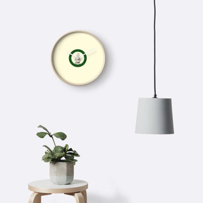 Relojes «Logotipo de Babson con barco (marco circular verde ...
