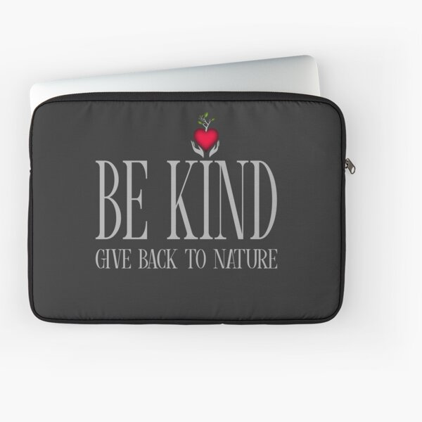 Be Kind - Text - Dark Background Laptop Sleeve