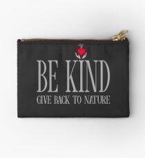 Be Kind - Text - Dark Background Studio Pouch