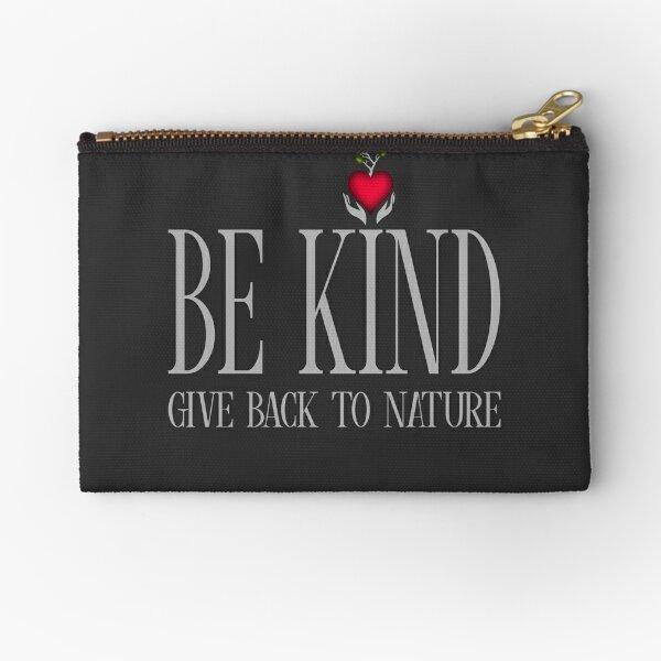 Be Kind - Text - Dark Background Zipper Pouch