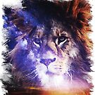 Blue Sky Light Lion by zachsymartsy