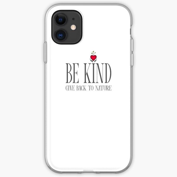 Be Kind - Text - Light Background iPhone Soft Case