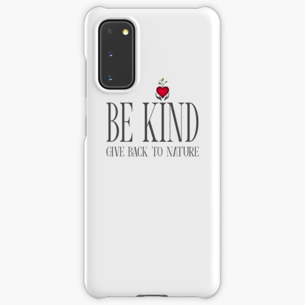 Be Kind - Text - Light Background Samsung Galaxy Snap Case