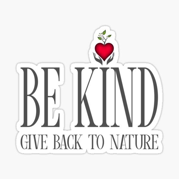 Be Kind - Text - Light Background Sticker