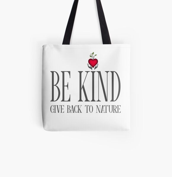 Be Kind - Text - Light Background All Over Print Tote Bag