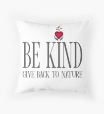 Be Kind - Text - Light Background Throw Pillow