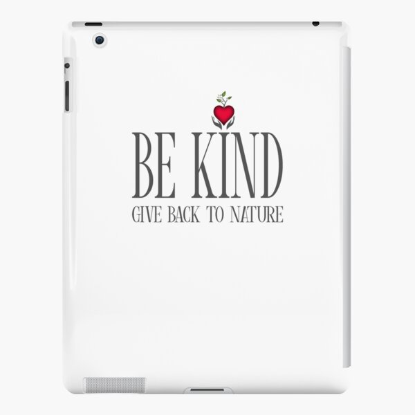 Be Kind - Text - Light Background iPad Snap Case