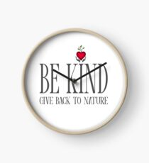 Be Kind - Text - Light Background Clock