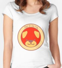 Year of the Pug: Red and Gold Pug Women's Fitted Scoop T-Shirt