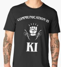 Communication is Ki - Funny Monk Valentines Day - DnD Men's Premium T-Shirt