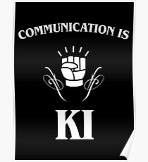 Communication is Ki - Funny Monk Valentines Day - DnD Poster