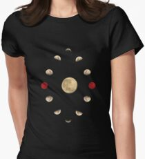 Moon cycle Women's Fitted T-Shirt