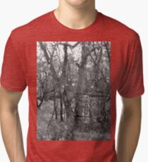 Dancing Trees Black & White Tri-blend T-Shirt