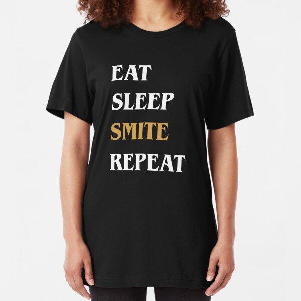 Eat Sleep Smite Repeat - Funny Paladin Slim Fit T-Shirt