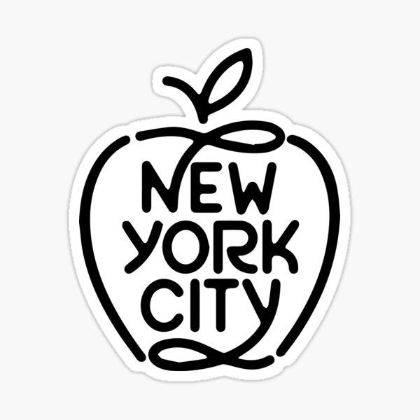 Big Apple New York City Sticker