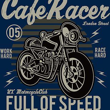 Motorcycle Custom Cafe Racer - Full Of Speed by flipper42