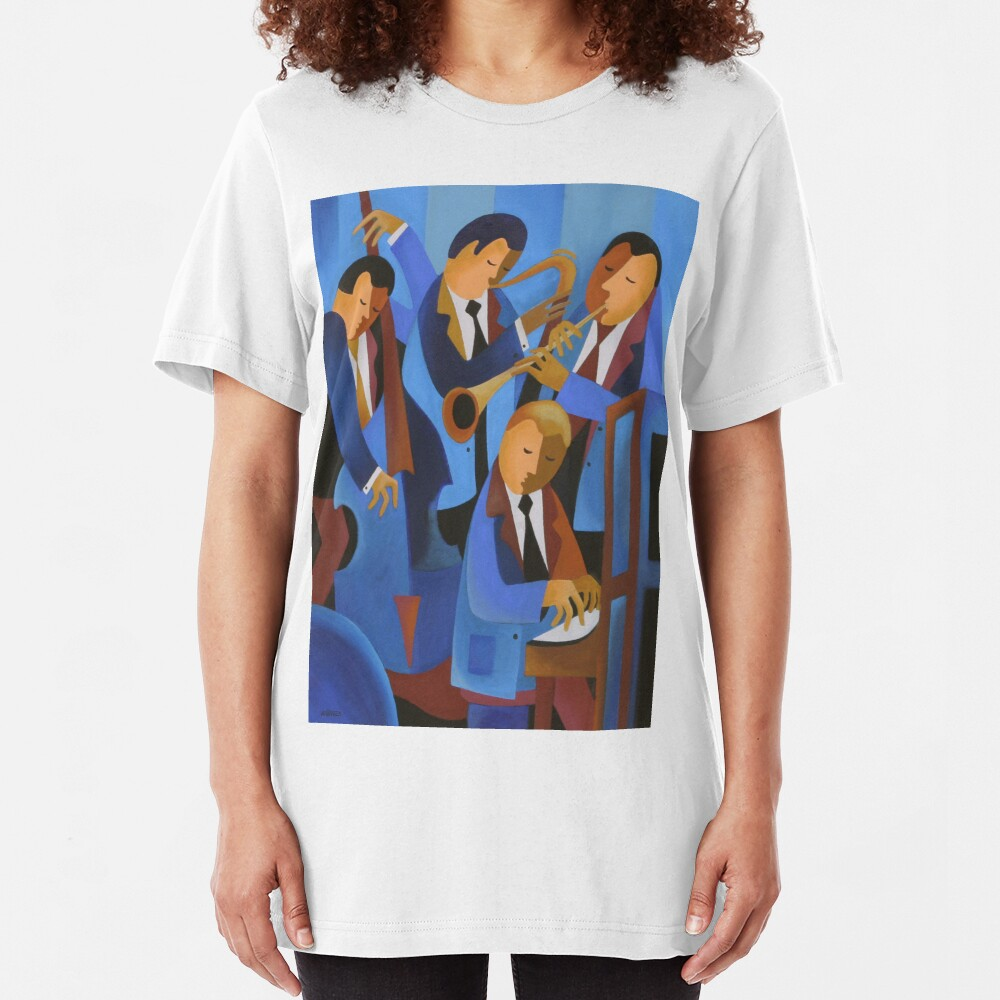BLUES UPSTAIRS, LONDON Slim Fit T-Shirt