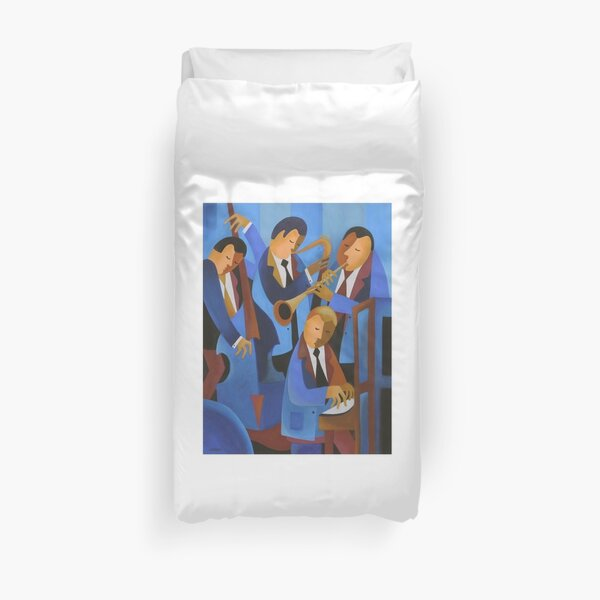 BLUES UPSTAIRS, LONDON Duvet Cover