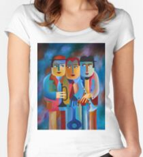 THREE MUSICIANS Women's Fitted Scoop T-Shirt
