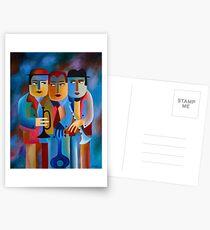 THREE MUSICIANS Postcards