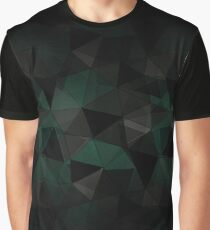 Abstract geometric pattern. Turquoise, black, grey triangles. Graphic T-Shirt