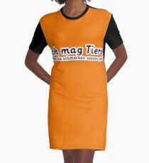 Ich mag Tiere. Graphic T-Shirt Dress