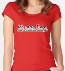 Ich mag Tiere. Women's Fitted Scoop T-Shirt