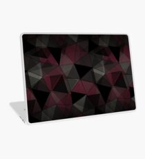 Abstract geometric pattern. Red, black, grey triangles. Laptop Skin