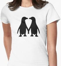 Penguin couple love Women's Fitted T-Shirt