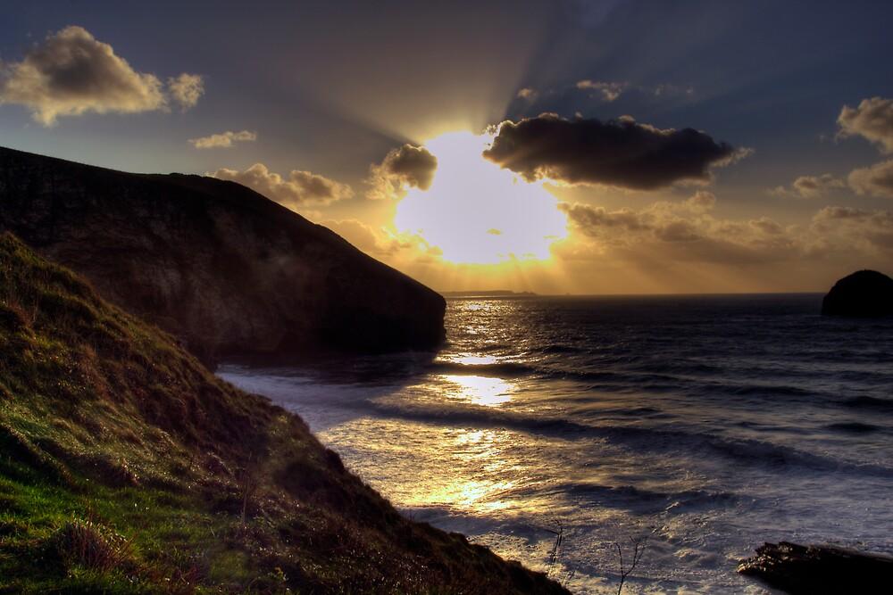 Sunset at Trebarwith Strand by David Wilkins
