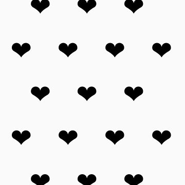White & Black Hearts Phone Case by aeshaax