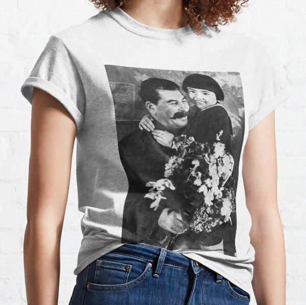 Political Poster, Stalins cult of personality #Сталин #ИосифВиссарионович #Ежов #Берия #Жданов #Молотов #Ленин #ГУЛАГ #Нориллаг #Культличности #репрессии #депортация #тюрьма #казнь #политзаключенный #Stalin Classic T-Shirt